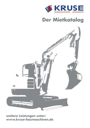 Mietpreisliste 2012.indd - Fritz Kruse Baumaschinen GmbH