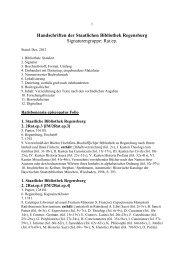 Ratisbonensia episcopatus et - Staatliche Bibliothek Regensburg