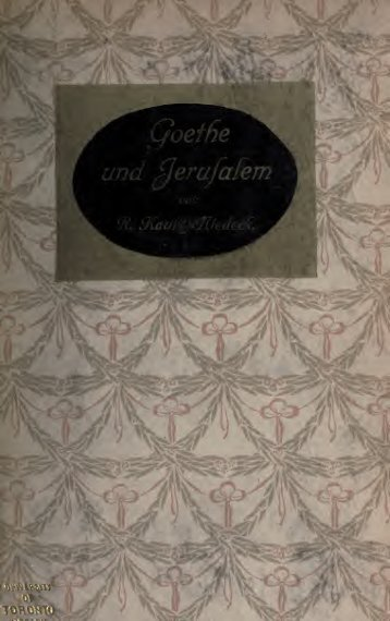 Goethe und Jerusalem