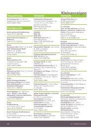 Kleinanzeigenmarkt der aktuellen Ausgabe (Dezember 2012)