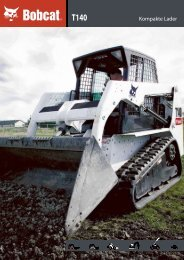 Technische Daten Kompakt-Raupenlader T140 - Bobcat