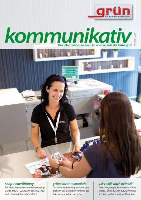 Das Informationsmedium für alle Freunde der Firma grün