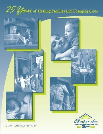 2009 Annual Report (PDF) - Christine Ann Domestic Abuse Services