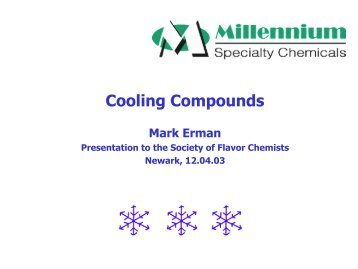 Cooling Compounds - Leffingwell & Associates