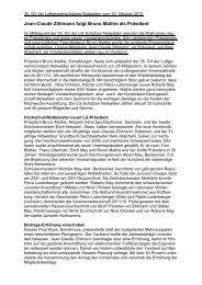 Jean-Claude Zihlmann folgt Bruno Mathis als Präsident