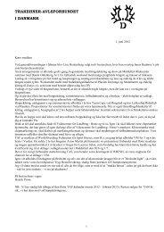 Resultater fra hoppekåringen - Trakehner Avlsforbundet i Danmark