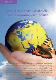 Spirit & Business – lässt sich das miteinander ... - Monika Schmitt