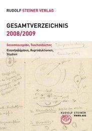 GESAMTVERZEICHNIS 2008/2009 - Rudolf Steiner Online Archiv