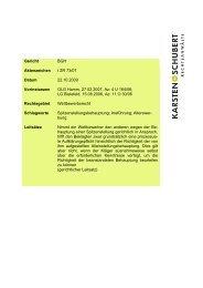 BGH I ZR 73/07 - Hier spiegelt sich Erfahrung - Karsten + Schubert