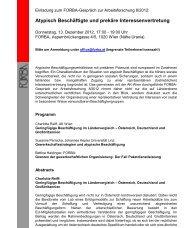 Atypisch Beschäftigte und prekäre Interessenvertretung - FORBA