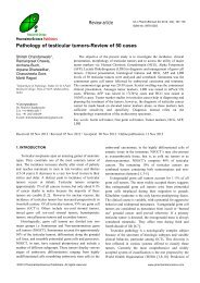 Pathology of testicular tumors-Review of 50 cases