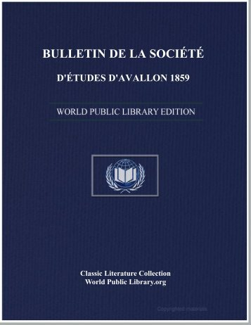 bulletin de la société d'études d'avallon 1859 - World eBook Library