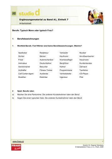 Arbeitsblatt Berufe Und Arbeit A1 : Demonstrativa und fragepronomen arbeitsblatt band a