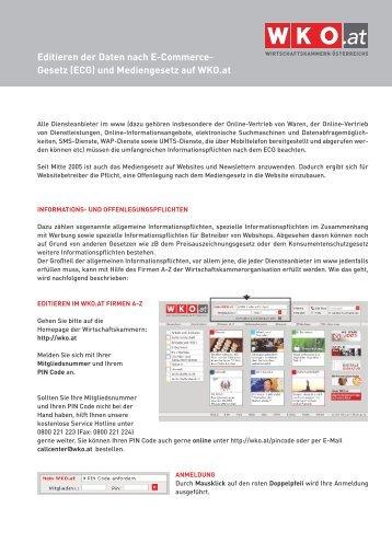 und Mediengesetz auf WKO.at - (cocean.creato.at) - onlinegroup.at