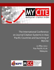 MyCite - Malaysian Citation Centre