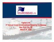 to download the presentation in PDF - Euroseas Ltd.
