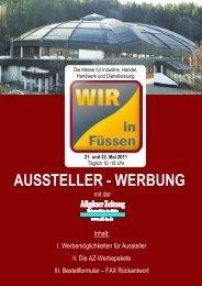 AUSSTELLER - WERBUNG - Wir in Füssen