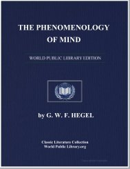 THE PHENOMENOLOGY OF MIND - World eBook Library