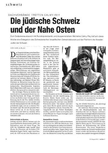 ch w e i z - Schweizerischer Israelitischer Gemeindebund