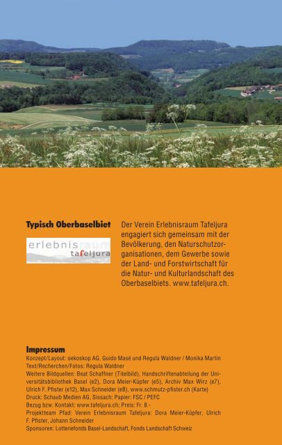 Typisch Oberbaselbiet Impressum - Erlebnisraum Tafeljura