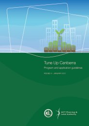 Tune Up Canberra - ACT Planning and Land Authority - ACT ...
