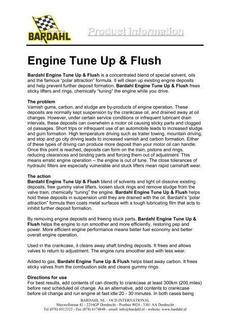 Engine Tune Up & Flush - Bardahl
