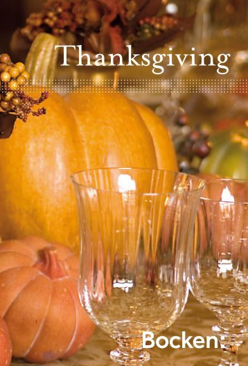 Thanksgiving - Bocken