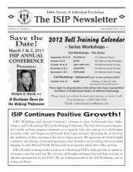 Sept/Oct - Idaho Society of Individual Psychology