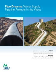 Water Supply Pipeline Projects in the - Natural Resources Defense ...