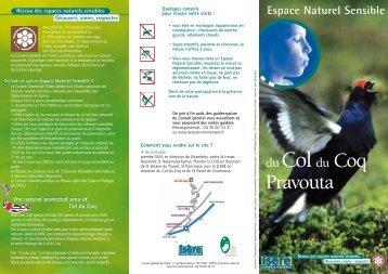 Espace naturel sensible, col du coq, Pravouta - Conseil général de l ...