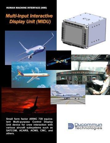 Multi-Input Interactive Display Unit (MIDU)