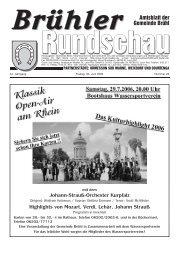 Rundschau - Gemeinde Brühl