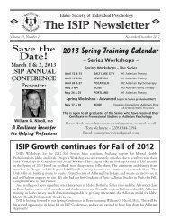 ISIP Nov/Dec 2004 Newsletter - Idaho Society of Individual Psychology