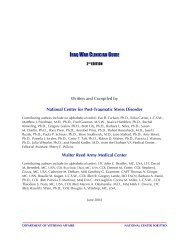 Iraq War Clinician's Guide - Network of Care