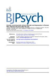 Anxiety, post-traumatic stress disorder and depression in Korean ...