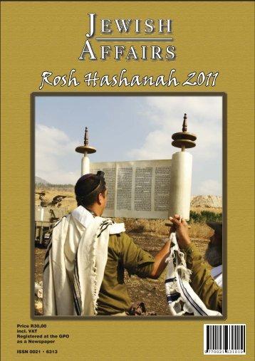 Rosh Hashanah 2011 - South African Jewish Board of Deputies