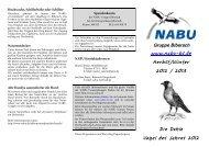 NABU Biberach: Programm Herbst/Winter 2012/13