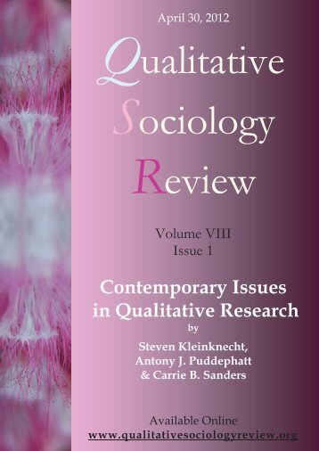 Contemporary Issues in Qualitative Research Editors of special issue