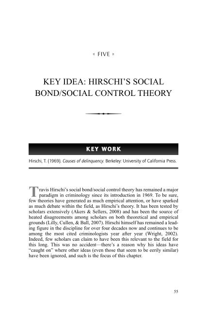 social control theory suggests that