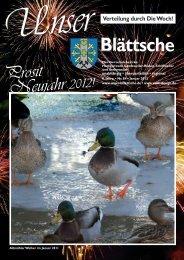 Unser Blättsche · Ausgabe 84 · Januar 2012