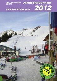 Jahresprogramm 2012 - und Wanderclub Horheim