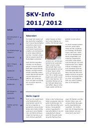SKV-Info 2011/2012 - SKV Bonndorf