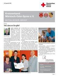 Download komplette Ausgabe - DRK Kreisverband Märkisch Oder ...