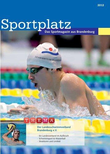Sportplatz Ausgabe 2 - Landesschwimmverband Brandenburg