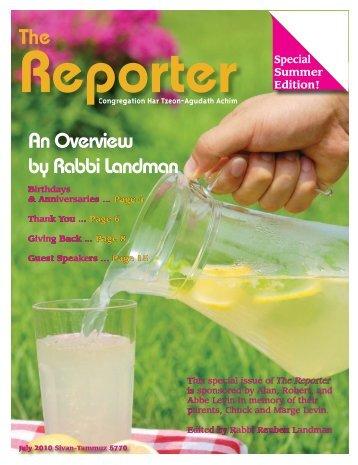 The An Overview by Rabbi Landman - Home [htaa.homestead.com]