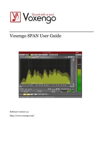 Voxengo SPAN User Guide
