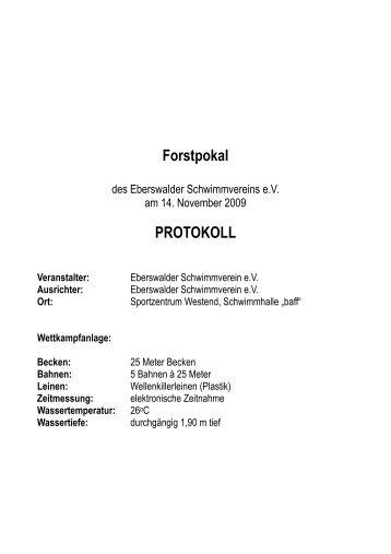 Seite 1 Protokoll - DSV