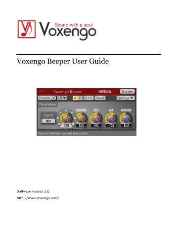 Voxengo Beeper User Guide