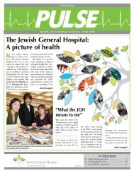 The Jewish General Hospital: A picture of health