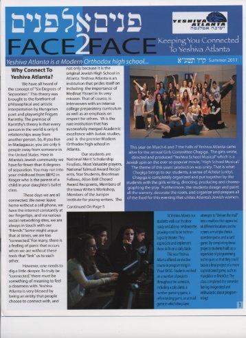Face2Face - Yeshiva Atlanta
